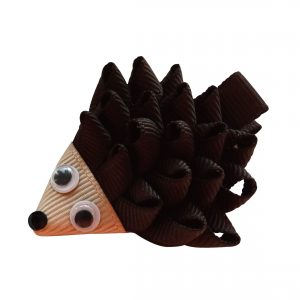 Happy Hedgehog Hair Clip- braun