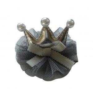 Instant Princess Hair Clip grey