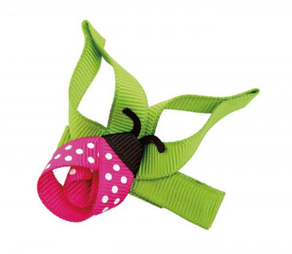 PINK Springtime Ladybird Hair Clip