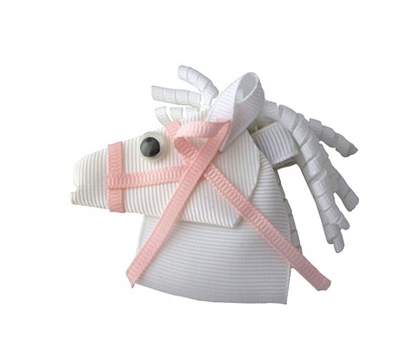 JOYHAIR Pretty Pony Hair Clip - pink and White: LUCKY 1052-06