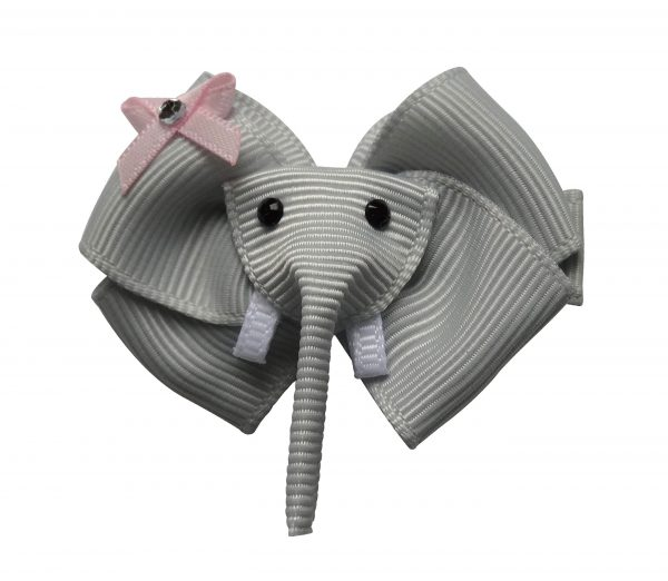 Ellie the Elephant Hair Clip in Grau